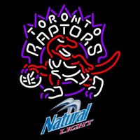 Natural Light Toronto Raptors NBA Beer Sign Neon Sign