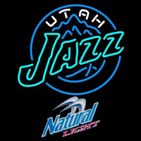 Natural Light Utah Jazz NBA Beer Sign Neon Sign