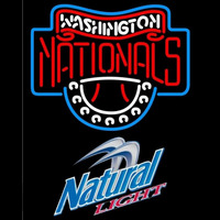 Natural Light Washington Nationals MLB Beer Sign Neon Sign