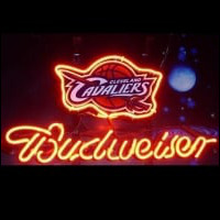 Nba Budweiser Cleveland Cavaliers Beer Bar Neon Light Sign Neon Sign