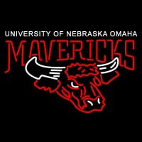 Nebraska Omaha Mavericks Primary Logo NCAA Neon Sign Neon Sign