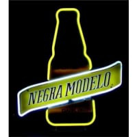 Negra Modelo Dark Beer Bottle Neon Sign