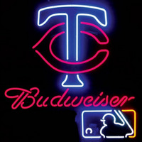 Neon Sign Budweiser Minnesota Twins Neon Sign