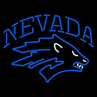 Nevada Wolf Pack Primary Pres Logo NCAA Neon Sign Neon Sign