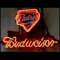 New Budweiser San Diego Padres Baseball Neon Light Sign Neon Sign