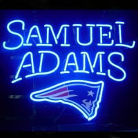 New England Patriots Samuel Adams Lager Neon Sign