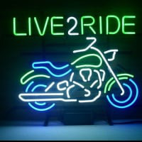 New Harley Motorcycle Love 2 Ride Ride Em Hard Neon Sign