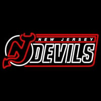 New Jersey Devils Wordmark Logo Nhl Neon Sign Neon Sign