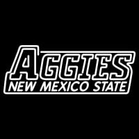 New Mexico State Aggies Wordmark Pres Logo NCAA Neon Sign Neon Sign