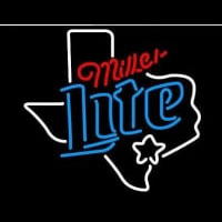 New Miller Lite Texas Dallas Neon Sign