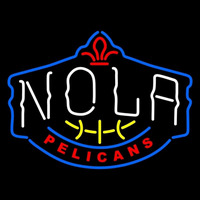 New Orleans Pelicans Alternate 2013 14 Pres Logo NBA Neon Sign Neon Sign