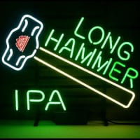 New Redhook Long Hammer Ipa Beer Real Neon Sign