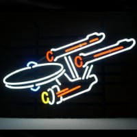 New Star Trek Enterprise Space Ship Neon Sign