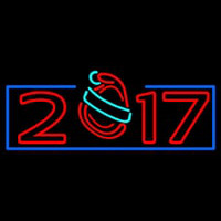 New Year Christmas Hat Neon Sign