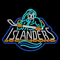 New York Islanders Primary Logo Nhl Neon Sign Neon Sign
