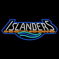 New York Islanders Wordmark Logo Nhl Neon Sign Neon Sign