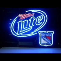 New York Rangers Miller Lite Beer Neon Sign Neon Sign