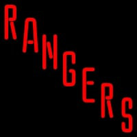 New York Rangers Wordmark Logo Nhl Neon Sign Neon Sign