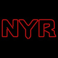 New York Rangers Wordmark Pres Logo Nhl Neon Sign Neon Sign