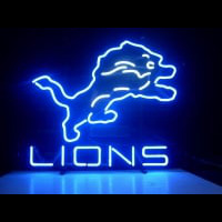 Nfl Detroit Lions Real Neon Light Beer Sign Neon Sign