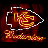 Nfl Kansas City Chiefs Budweiser Beer Neon Sign Neon Sign