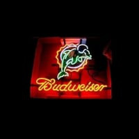 Nfl Miami Dolphins Football Budweiserneon Sign Neon Sign