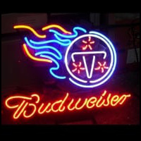 Nfl Tennessee Titans Budweiser Beer Bar Club Neon Light Sign Neon Sign