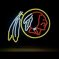 Nfl Washington Redskins Real Neon Light Beer Sign Neon Sign