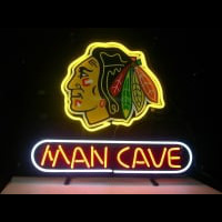 Nhl Chicago Blackhawks Hockey Man Cave Neon Sign