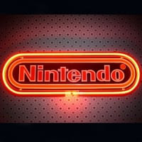 Nintendo Black Neon Sign