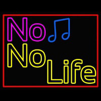 No Life No Music  Neon Sign
