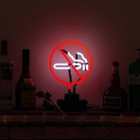 No Smoking Desktop Neon Sign
