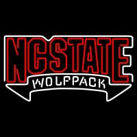 North Carolina State Wolfpack Wordmark Pres Logo NCAA Neon Sign Neon Sign