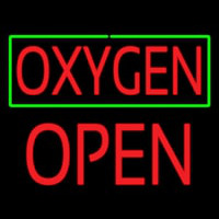 O ygen Green Border Block Open Neon Sign