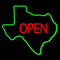 OPEN Te as State Neon Sign