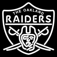 Oakland Raiders Primary  Logo NFL Neon Sign Neon Sign