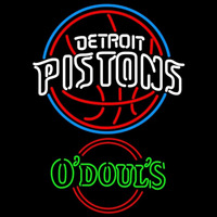 Odouls Detroit Pistons NBA Beer Sign Neon Sign