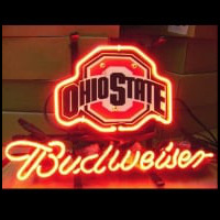 Ohio State Budweiser Beer Bar Neon Sign