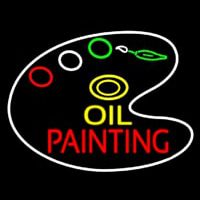 Oil Painting With Palate Neon Sign