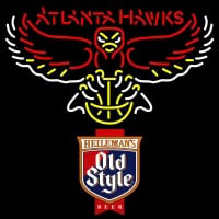Old Style Atlanta Hawks NBA Neon Beer Sign Neon Sign