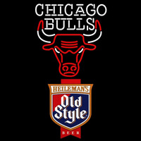 Old Style Chicago Bulls NBA Beer Sign Neon Sign
