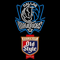 Old Style Dallas Mavericks NBA Beer Sign Neon Sign