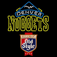 Old Style Denver Nuggets NBA Beer Sign Neon Sign