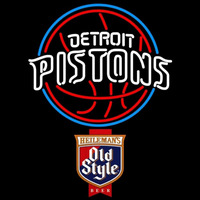 Old Style Detroit Pistons NBA Beer Sign Neon Sign