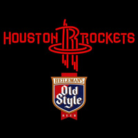 Old Style Houston Rockets NBA Beer Sign Neon Sign