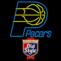 Old Style Indiana Pacers NBA Beer Sign Neon Sign