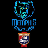 Old Style Memphis Grizzlies NBA Beer Sign Neon Sign