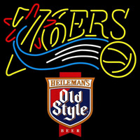 Old Style Philadelphia 76ers NBA Beer Sign Neon Sign