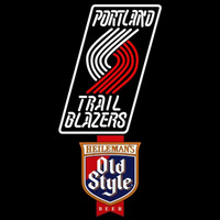 Old Style Portland Trail Blazers NBA Beer Sign Neon Sign