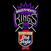 Old Style Sacramento Kings NBA Beer Sign Neon Sign